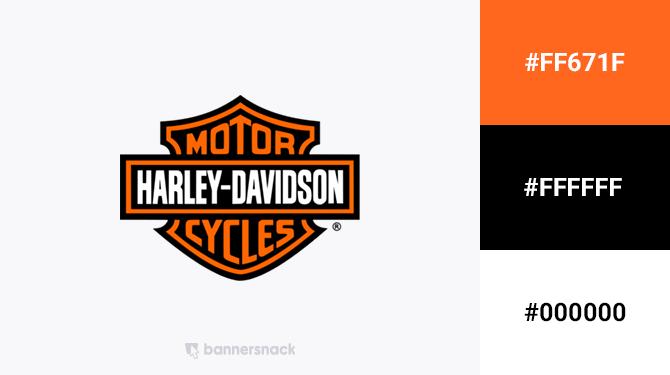 orange and black logo harley davidson