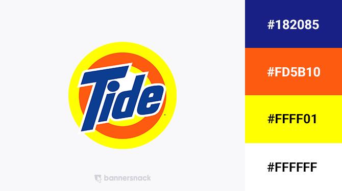 blue and orange logo tide