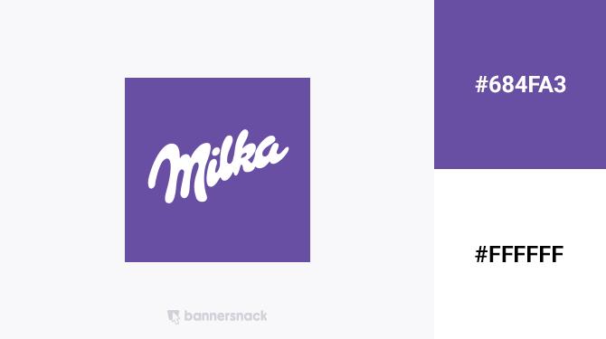 purple and white logo milka