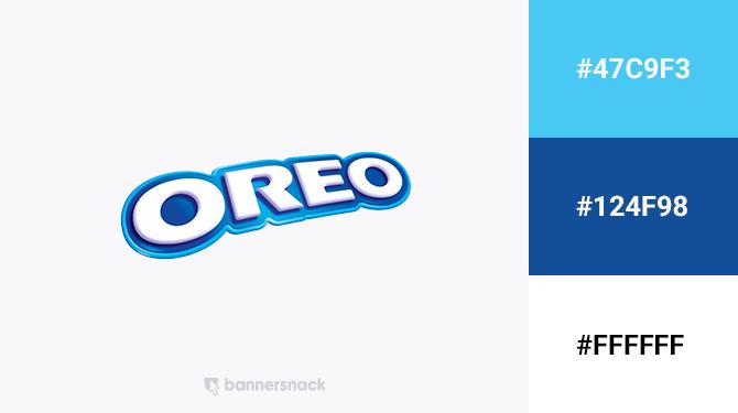 blue and white logo oreo