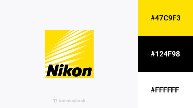 black and yellow logo nikon