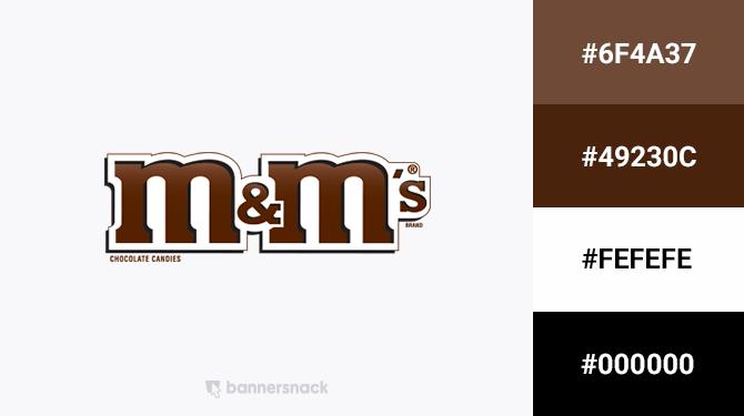 brown logo color m&ms