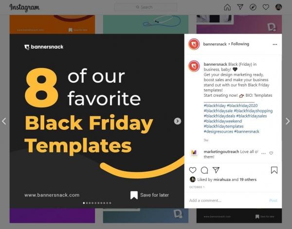 bannersnack contrast colors social media design