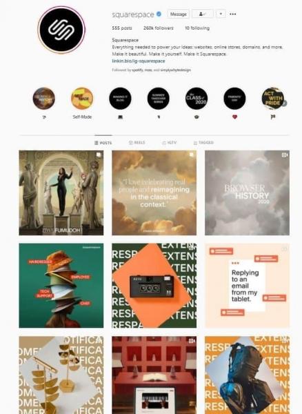 squarespace social media design consistent style