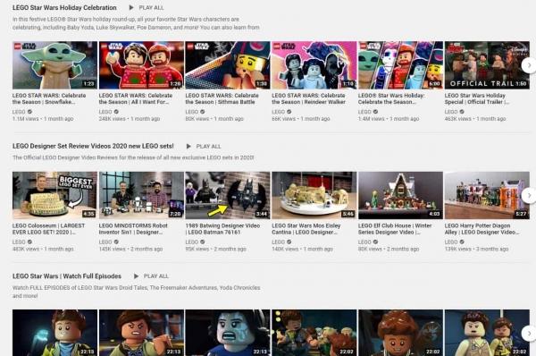 lego on youtube social media design