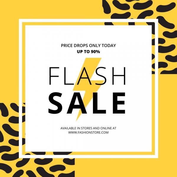 instagram template flash sale social media design