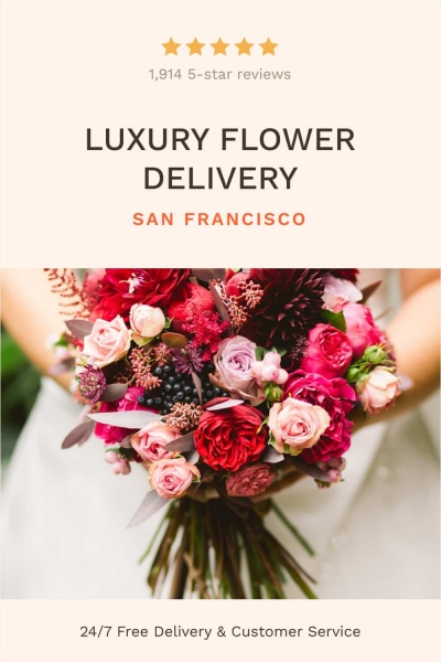pinterest post luxury flower delivery social media design