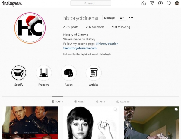 instagram christmas profile picture history of cinema