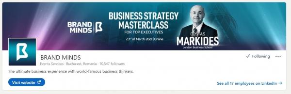 linkedin profile background brand minds