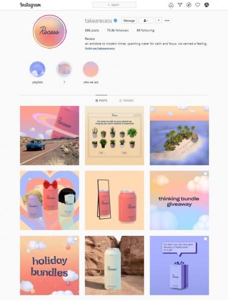 social media design instagram layout recess