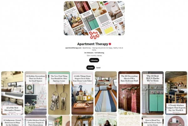 social media design pinterest layout apartment therapy