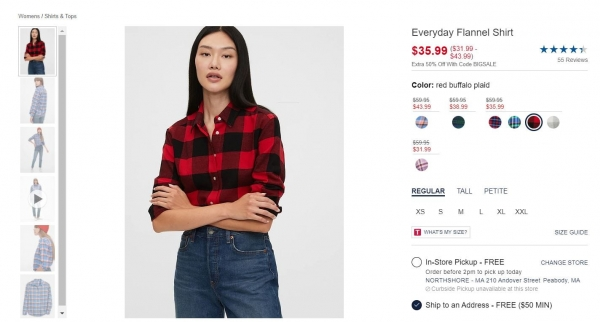 gap flannel shirt