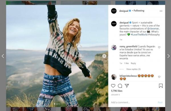 desigual engaging instagram post
