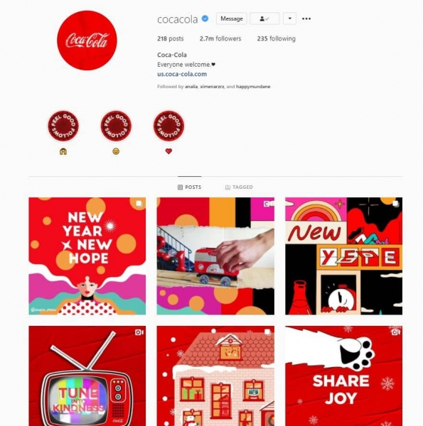 coca cola consistent branding style