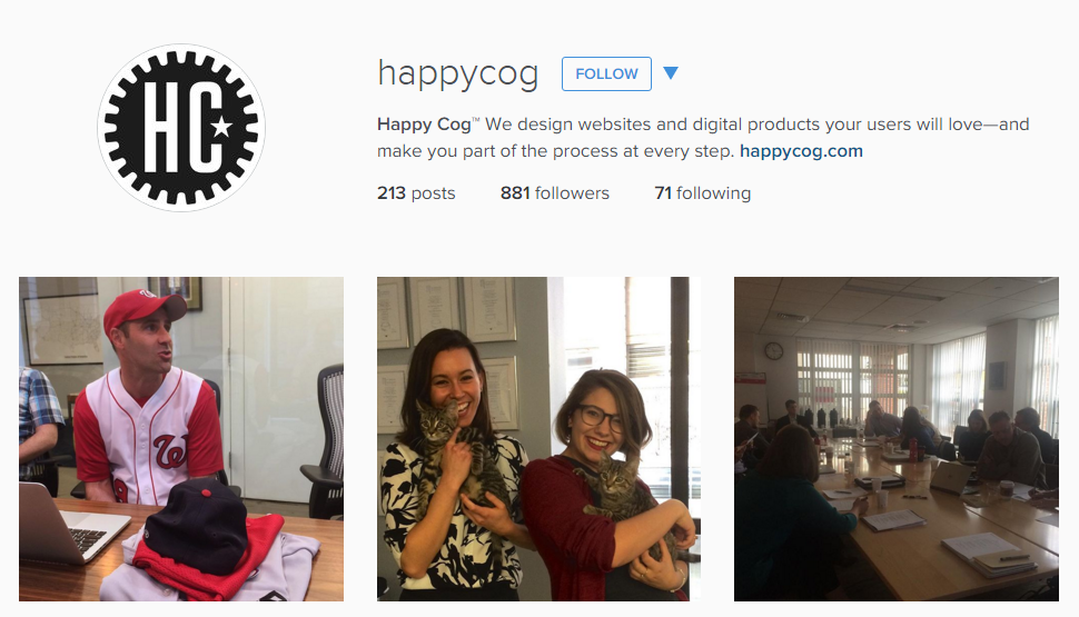 Happy Cog Instagram advertising agency