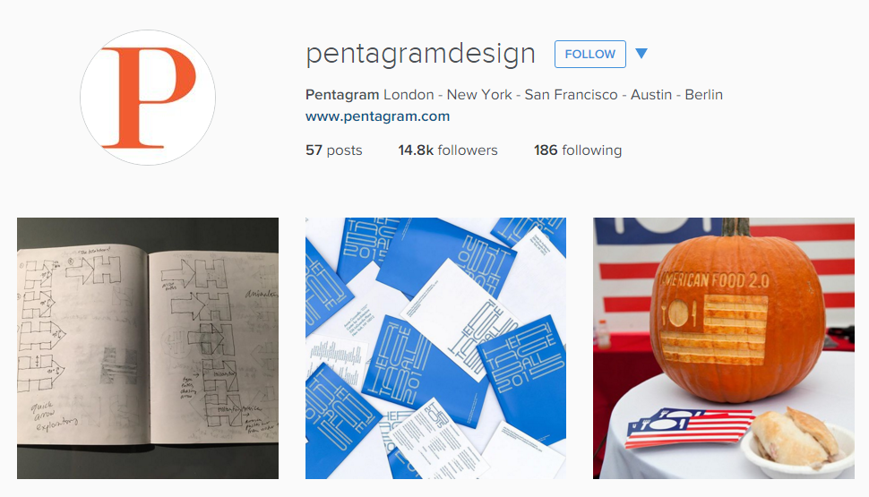 Pentagram Design Instagram advertising agency