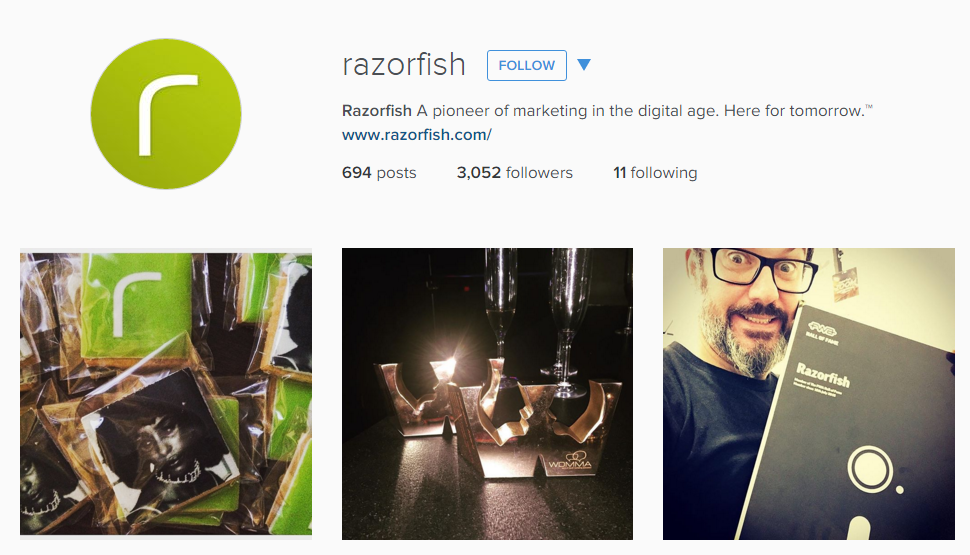 Razorfish creative Instagram feed