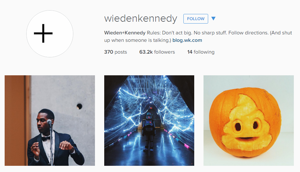 Wieden+Kennedy Instagram Feed