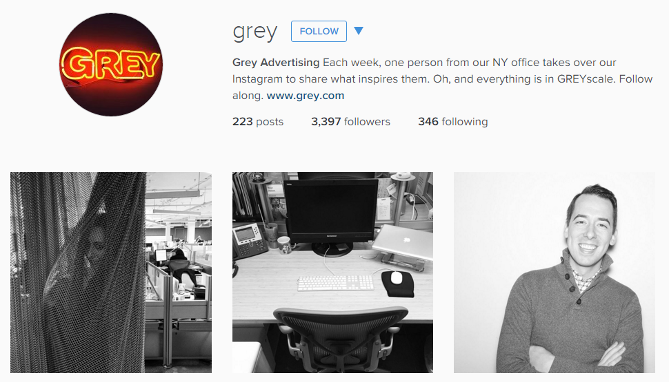 Grey Advertising Creative Instagram Feed