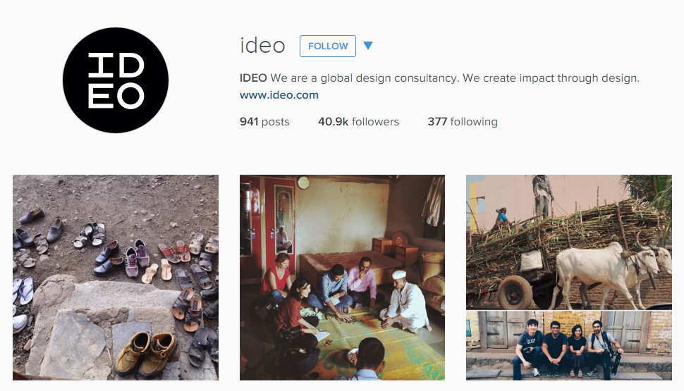 Ideo Instagram feed