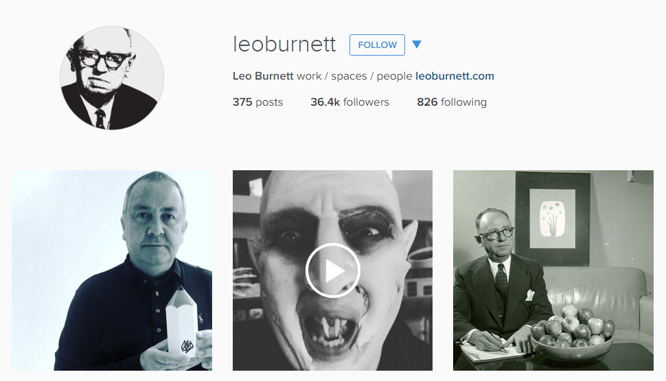 Leo Burnett Instagram feed