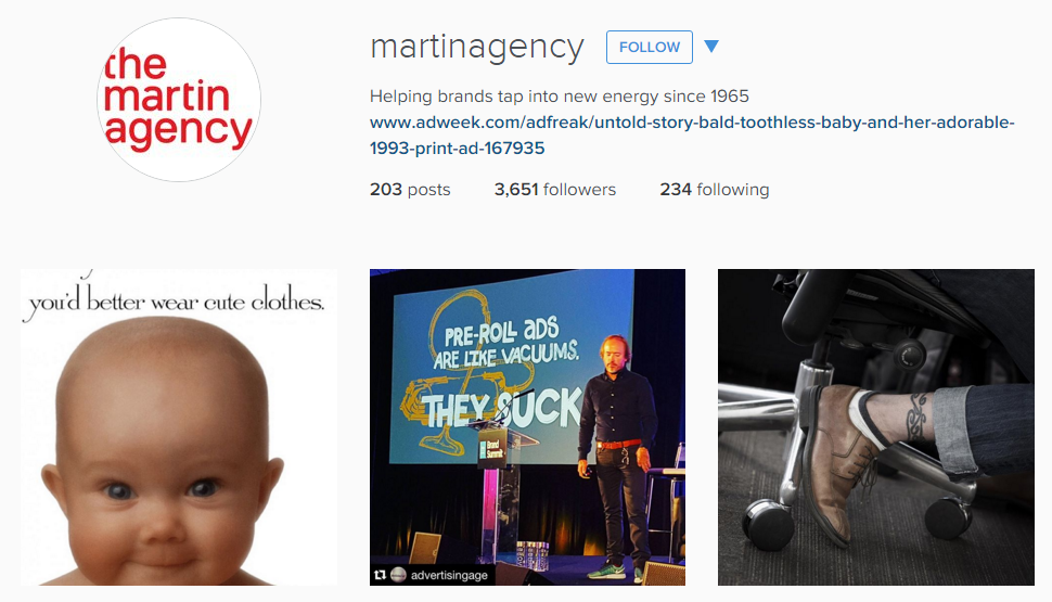 The Martin Agency Instagram Advertising Agency