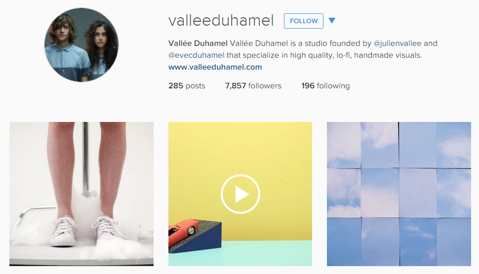 Vallee Duhamel Instagram feed